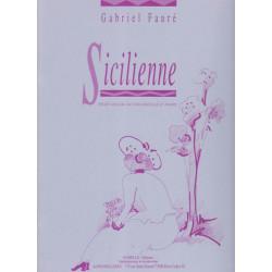 Fauré Gabriel - Sicilienne (Violon ou violoncelle & harpe ou piano)