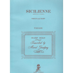 Paradis Maria Theresa - Sicilienne (Violon ou violoncelle & harpe)