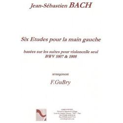 Bach Johann Sebastian - 6 études pour la main gauche