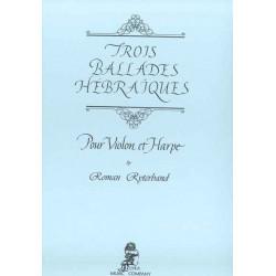 Ryterbrand Roman - 3 ballades hébraïques