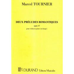 Tournier Marcel - 2 préludes romantiques (Violon & harpe ou piano) Op. 17
