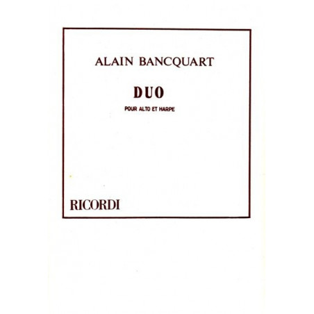 Bancquart Alain - Duo (alto et harpe)