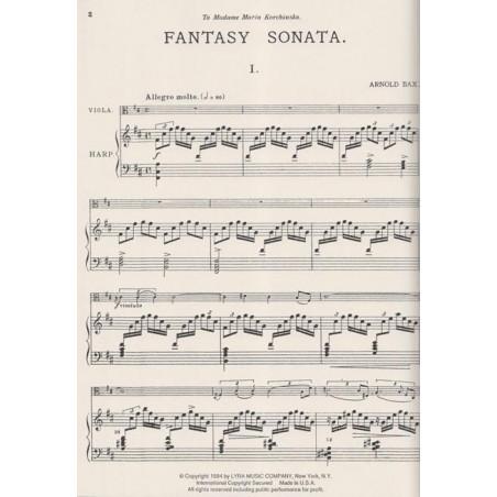 Bax Arnold - Fantasy sonata (alto & harpe)