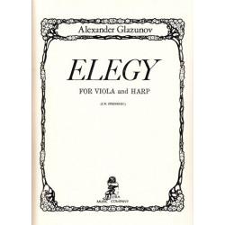 Glazunov Alexander - Elegy (alto & harpe)
