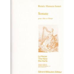 Hansen-Jamet Renée - Sonate pour alto & harpe