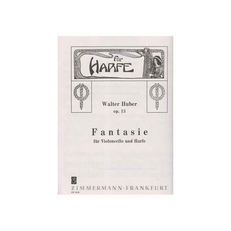 Huber Walter - Fantaisie op.13 (violoncelle & harpe)