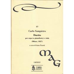 Sampietro Carlo - Duetto<br> per arpa (o pianoforte) e viola