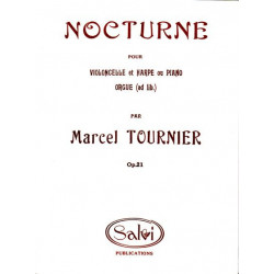 Tournier Marcel - Nocturne op.21 (violoncelle & harpe ou piano)