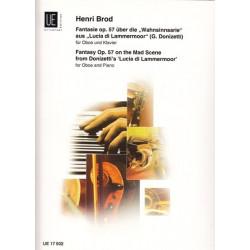 Brod Henri - Fantaisie sur Lucia di Lammermoor (G. Donizetti) (Hautbois & harpe ou piano)