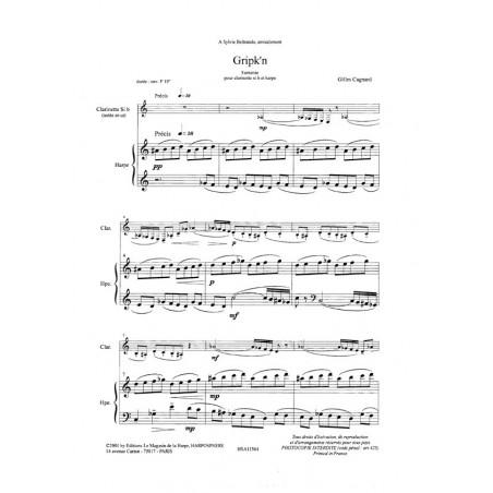 Cagnard Gilles - Gripk'n (clarinette & harpe)