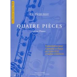 Debussy Claude - Quatre pièces (clarinette & harpe)