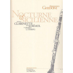 Ghidoni Armando - Nocturne et Sicilienne (clarinette & harpe)
