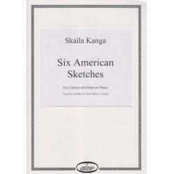 Kanga Skaila - Six American Sketches (clarinette & harpe)