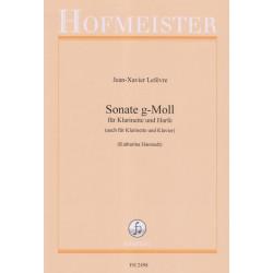 Lefevre Jean-Xavier - Sonate en sol mineur (clarinette & harpe)