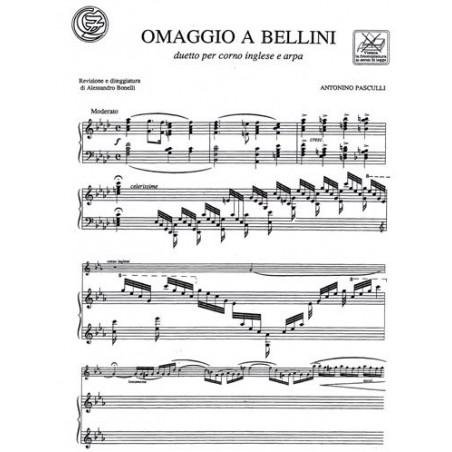 Pasculli Antonio - Omaggio a Bellini (cor anglais ou hautbois & harpe)