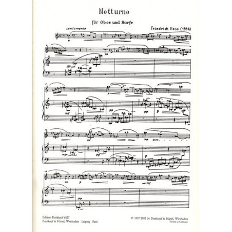 Voss Friedrick - Notturno (hautbois et harpe)