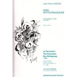Damase Jean-Michel - 5 petits dialogues <br> pour marimba et harpe (ou piano)