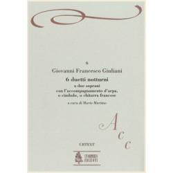 Giuliani Giovanni Francesco - 6 duetti notturni (Urtext) (2 sopranos & harpe ou guitare)