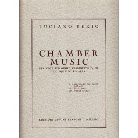 Berio Luciano - Chamber Music (voix, clarinette, violoncelle & harpe)