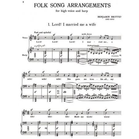 Britten Benjamin - 8 folk songs (voix & harpe)