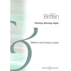 Britten Benjamin - Evening, Morning, Night