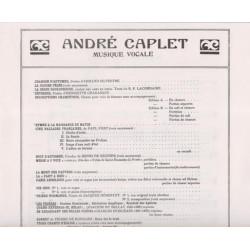 Caplet André - Les prières (voix & harpe)