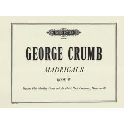 Crumb Georges - Madrigals Book IV (voix & harpe)
