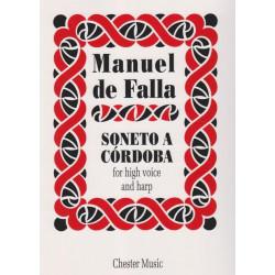 de Falla Manuel - Soneto a Cordoba (voix & harpe)