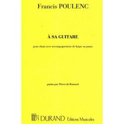 Poulenc Francis - A sa guitare : Poésie de Ronsard (voix & harpe)