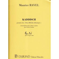 Ravel Maurice - Kaddisch première des 2 mélodies hébraïques (Violon & harpe)