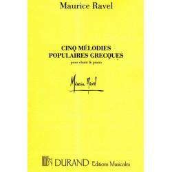 Ravel Maurice - 5 mélodies populaires grecques (voix & piano)