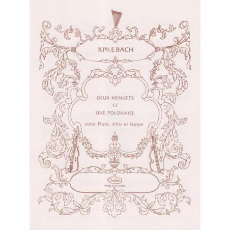 Bach Carl Philipp Emmanuel - 2 menuets & 1 polonaise (fl