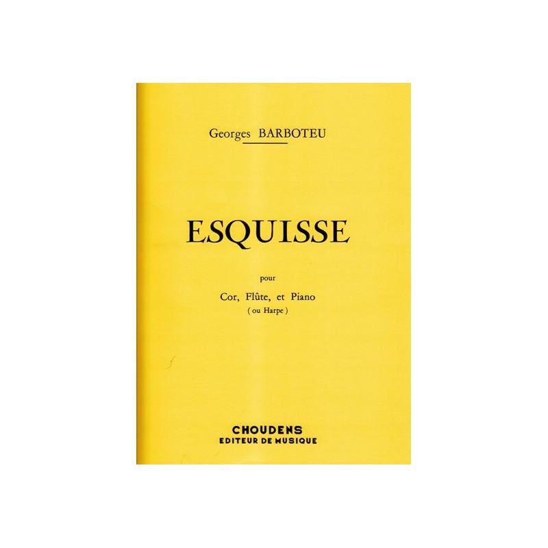 Barboteu Georges - Esquisse (cor, fl