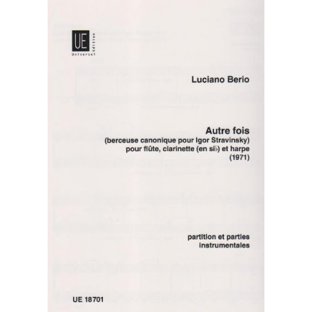 Berio Luciano - Autre fois (fl