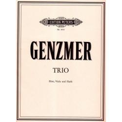 Genzmer Harald - Trio (flûte, alto & harpe)