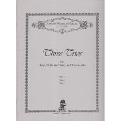 Hertel Johann Wilhelm - 3 trios (1)(violon ou flûte, violoncelle & harpe)