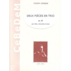 Jongen Joseph - 2 pièces en trio (flûte, violoncelle & harpe)