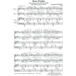 Scriabine Alexandre Nicolaïevitch - 2 études (2 flûtes & harpe ou piano)