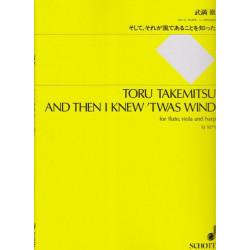 Takemitsu Toru - And then I knew'twas wind (fl