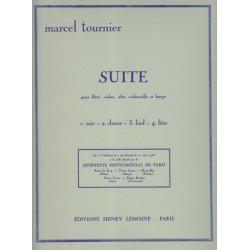 Tournier Marcel - Suite (flûte, alto, violon, violoncelle & harpe)