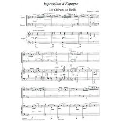 Vellones Pierre - Impressions d'Espagne (flûte, basson & harpe)