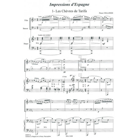Vellones Pierre - Impressions d'Espagne (fl