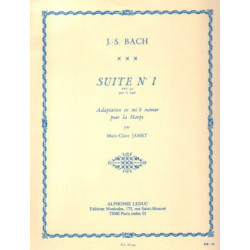 Bach Johann Sebastian - Suite n°1 adaptation en mib mineur pour