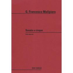 Malipiero Gian Francesco - Sonata a cinque (parties)(alto, fl