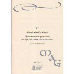 Marin Marie-Martin - Nocturne en quintette op.14, conducteur (quatuor & harpe)