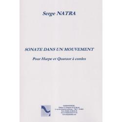 Natra Serge - Sonate dans un mouvement (Quatuor à cordes & harpe)