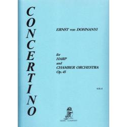Dohnanyi Ernst von - Concertino (harpe & orchestre de chambre)