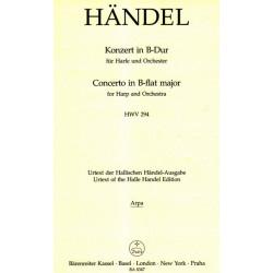 Haendel Georg Friedrich - Concerto en si b (partie harpe)