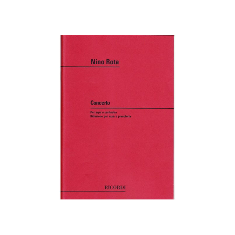 Rota Nino - Concerto per arpa e orchestra (riduzione per arpa e piano)