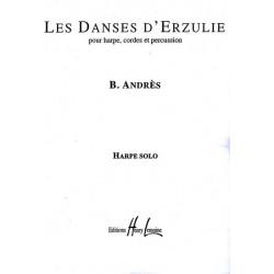 Andrès Bernard - Les danses d'Erzulie harpe, cordes et percussion (partie harpe)
